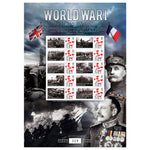 World War1 The War on Land Framed GB Customsed Stamps Sheetlet Ltd Edition of 500