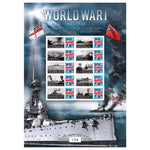 World War I The War at Sea Framed GB Customised Stamps Sheetlet Ltd Edition of 500 only