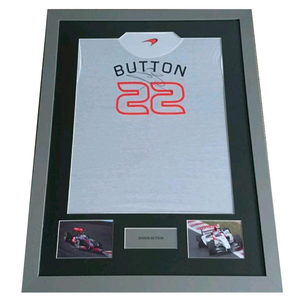 Jenson Button Framed & Mounted Personally Signed Shirt