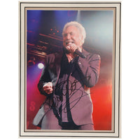 Tom Jones Mounted Photo & Personal Signature