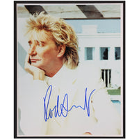 Rod Stewart Mounted Colour Photo Personally Signed. This item was signed in person and by hand and was supplied by one of the UK's most respected music memorabilia dealers and a member of both AFTAL & UACC (the most prestigious two trade dealer associations in the World). Comes supplied with a Certificate of Authenticity and a Lifetime Guarantee.