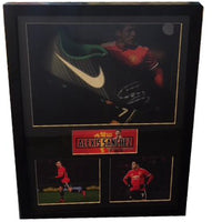 Alexis Sanchez Framed & Mounted Personally Signed Football Boot Display