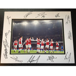 Arsenal FC Mounted Team Photo Multi Signed by 2017-2018 Squad