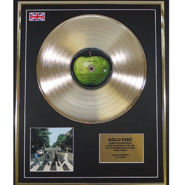 The Beatles- Abbey Road Framed & Mounted Gold Disc Ltd Edition of 50 Only