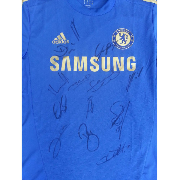 Chelsea FC Football Shirt Multi Signed by the Squad