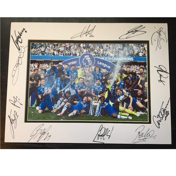 Chelsea FC Mounted Team Photo – Multi Signed by Members of the 2017 Squad