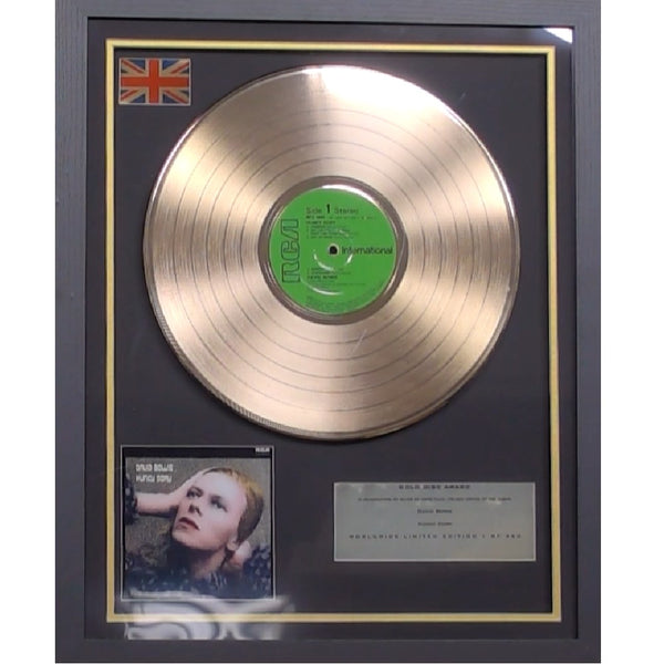 David Bowie Hunky Dory Framed & Mounted Gold Disc