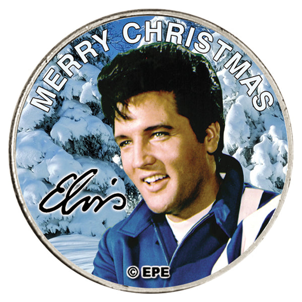 Elvis Presley - Xmas Quarter Collectors Genuine USA Silver Coin