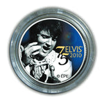 Elvis 75th Birthday colourised Quarter