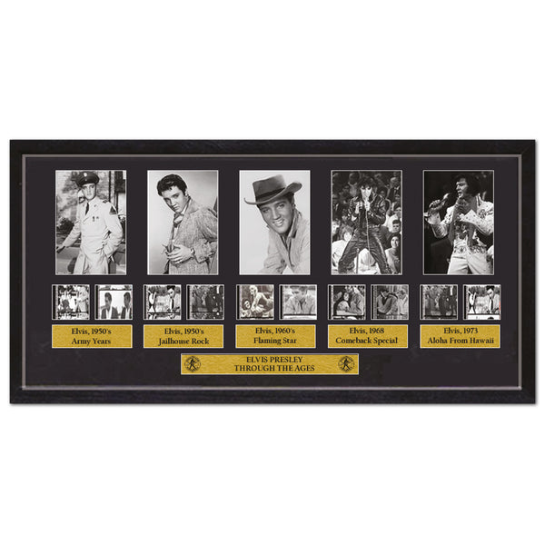 'Elvis Presley Through The Ages' Film Cells - Framed