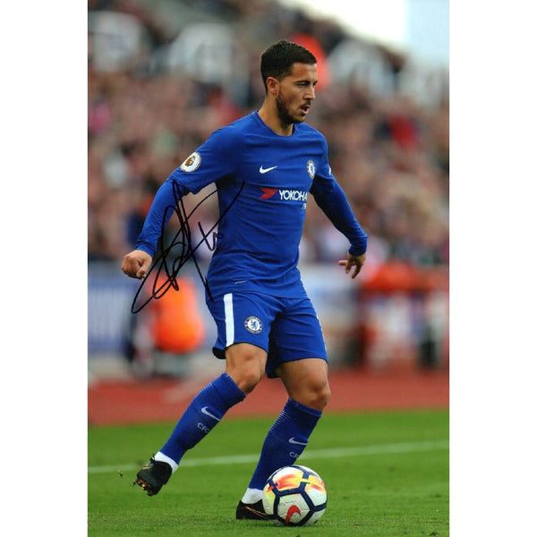 Eden Hazard Action Photo Personally Signed