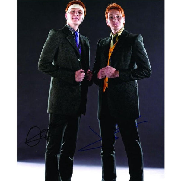 James & Oliver Phelps as Weasley twins Photo Personally Signed by Both