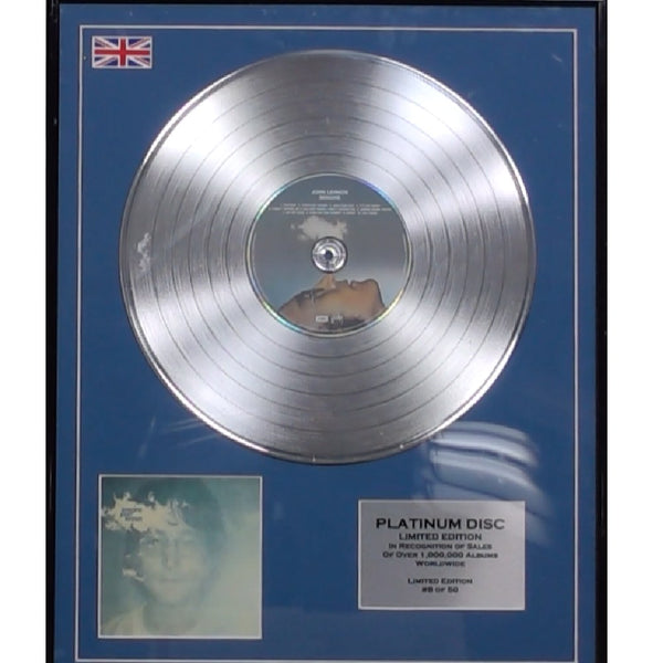 John Lennon- Imagine Framed & Mounted Platinum Disc Ltd Edition of 50 Only
