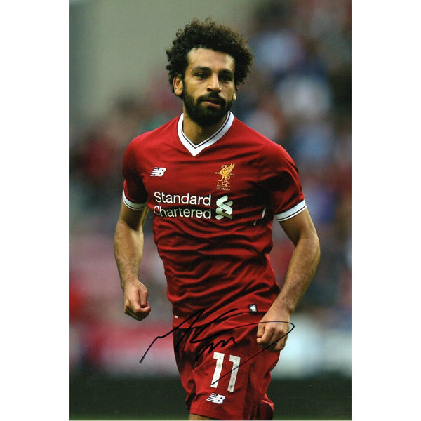 Mohammed Salah Action Photo Personally Signed