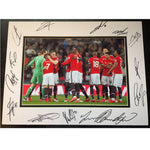 Manchester United Mounted Action Team Photo – Multi Signed by Members of the 2017-2018 Squad