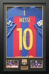 Lionel Messi Personally Signed Framed & Mounted Barcelona FC Shirt