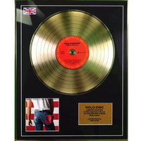 Bruce Springsteen Born in the USA Framed Gold Disc Limited Edition