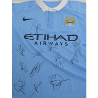Manchester City FC Football Shirt Multi Signed