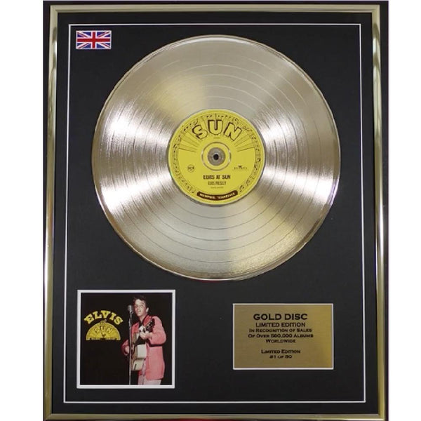 Elvis Presley ' Elvis at Sun' Framed & Mounted Gold Disc - Limited Edition