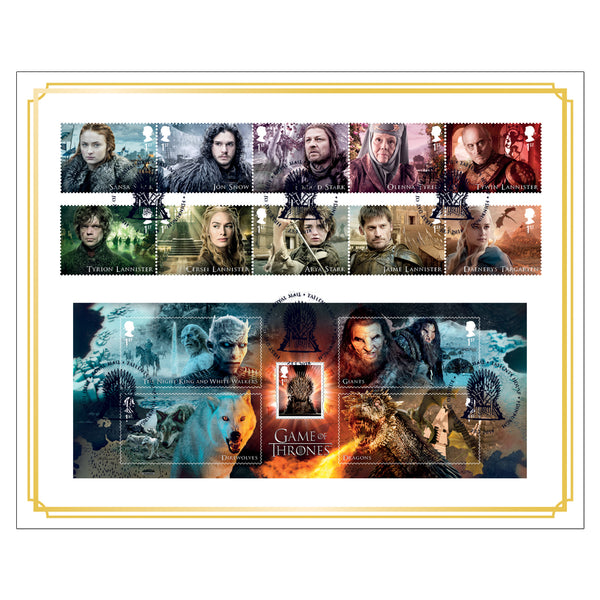 Game of Thrones Framed Collectors Stamp First Day Cover