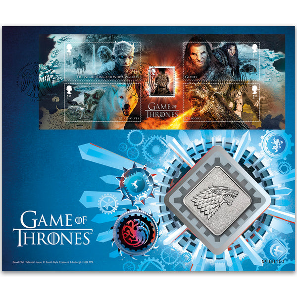 2018 Games of Thrones M/S RM Medal Cover