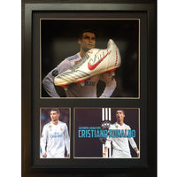 Cristiano Ronaldo Framed & Mounted Photo & Personally Signed Football Boot  Display