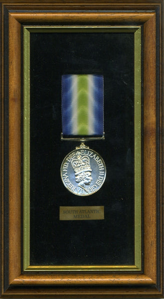 South Atlantic Medal 1982 Replica Medal Framed
