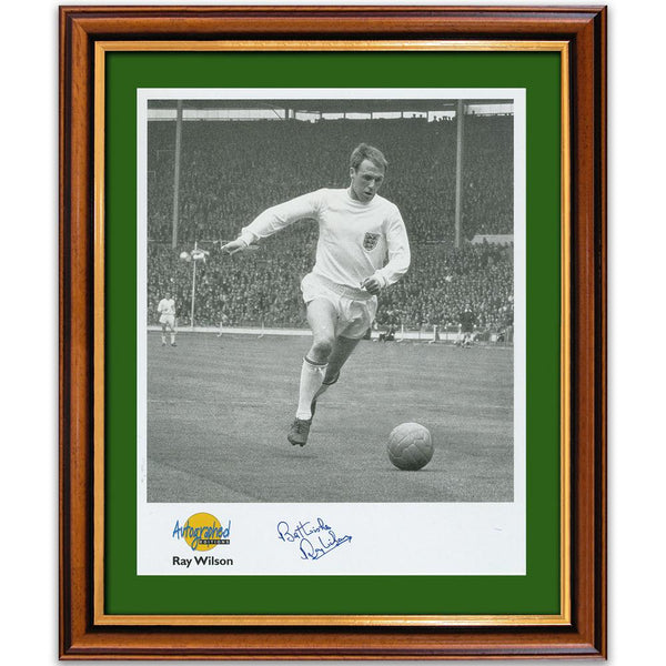 Black and white photograph of Ray Wilson, signed.