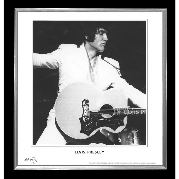 Elvis Presley Collectors Framed & Mounted Guitar Print