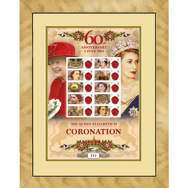 Queen Elizabeth II 60th Anniversary  of Coronation GB Stamps Sheetlet Ltd Edition