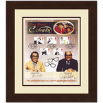 The Two Ronnies signed and framed photograph.