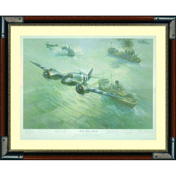 Strike Wing Attack Framed & Mounted Art Print Signed by Artist  5 PilotsLtd Edition