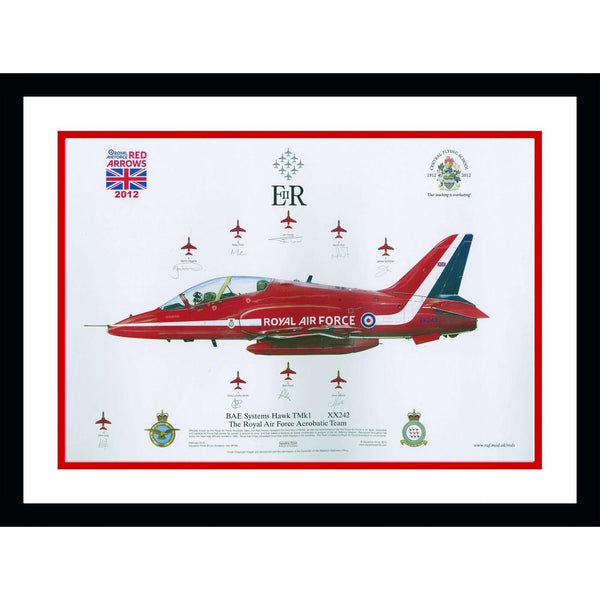Red Arrows Framed Celebration Photo Art Poster Personally Signed
