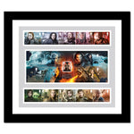 Framed Royal Mail Game of Thrones Stamps and Miniature sheet.