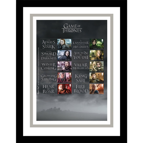 Game of Thrones Framed GB Stamps Collectors Generic Sheetlet