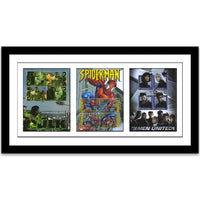 Marvel Three Stamp Sheet Set -  Framed