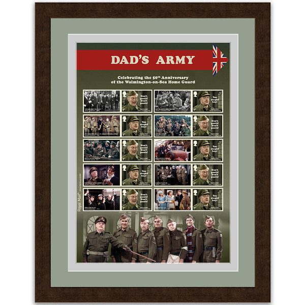 Dad's Army Stamp Sheet - Framed
