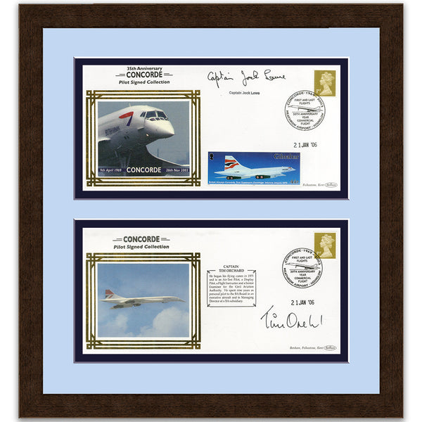 Concorde Pair of Signed Covers Framed