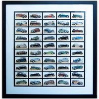 Motor Cars Reproduction Cigarrete Cards - Framed