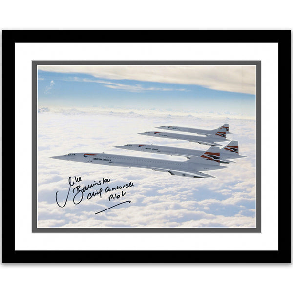 Four Concordes Print signed Captain Mike Bannister