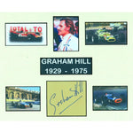 Graham Hill mounted Photo Montage & Personal Signature Display
