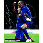 Rooney And Ferdinand - Autograph - Signed Colour Photograph