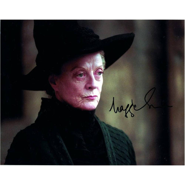 Signed colour photograph of Maggie Smith as Professor McGonagall.