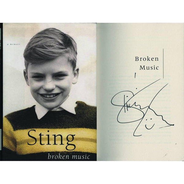 Signed Copy of Broken Music by Sting