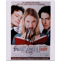 Bridget Jones' colour movie pister signed by Renee Zellweger, Colin Firth and Hugh Grant.