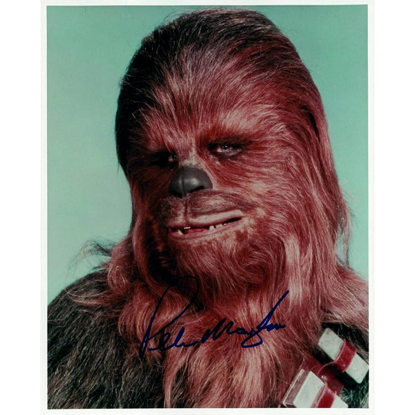 Signed colour photograph of Chewbacca, signed by Peter Mayhew.