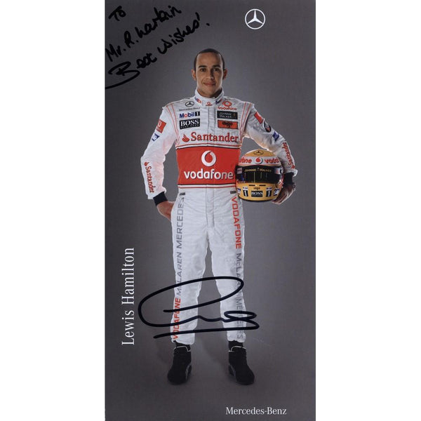 Lewis Hamilton Signed Colour Photograph - Framed