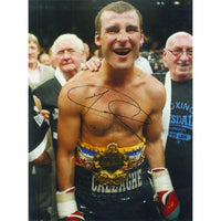 Colour photograph signed by Joe Calzaghe