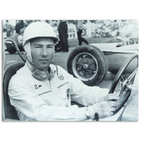 Stirling Moss  Signed Black and White Photograph - Framed