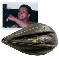 Muhammad Ali - Personally Signed & Dated Genuine 1978 Used Training Camp Speed Bag